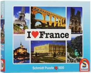 Настольная игра Я люблю Францию. Пазл, 1000 элементов
