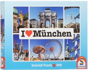 Настольная игра Я люблю Мюнхен. Пазл, 1000 элементов
