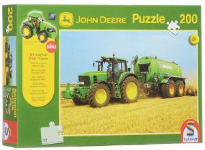 Настольная игра Трактор John Deere 7530. Пазл, 200 элементов