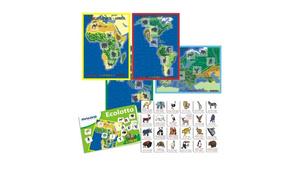 Настольная игра Животные континентов. Развивающее лото