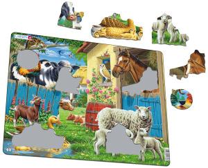Настольная игра Животные фермы. Пазл (23 элемента)