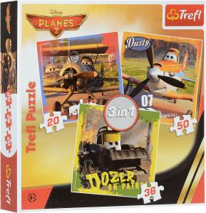 Настольная игра Самолеты 2. Пазл 3 в 1