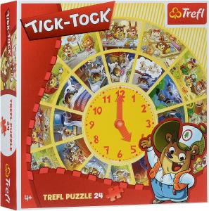 Настольная игра Тик-так, Пазл круглый 24 детали