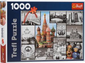 Настольная игра Москва - коллаж. Пазл 1000 деталей