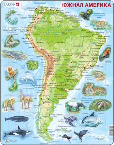 Настольная игра Животные Южной Америки. Пазл
