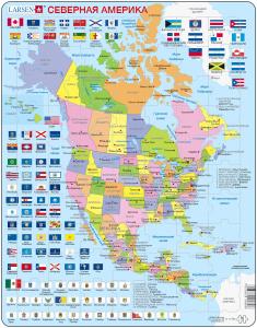 Настольная игра Северная Америка (Русский), Пазл 85 деталей