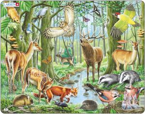 Настольная игра Европейский лес. Пазл (40 элементов)