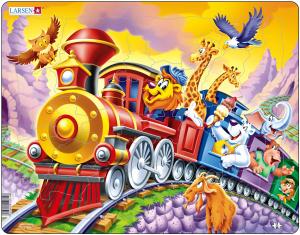 Настольная игра Поезд с Цирком. Пазл (Larsen US14)