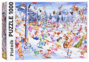 Настольная игра Рождественские катания. Франсуа Руер. Пазл 1000 элементов