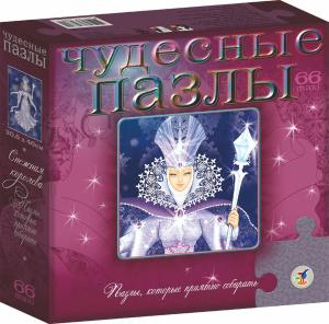 Настольная игра Снежная королева. Чудесные пазлы. 66 элементов