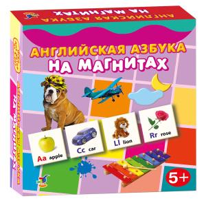 Настольная игра Английская азбука на магнитах