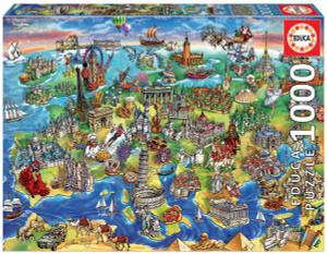 Настольная игра Европейский мир. Пазл (1000 деталей)