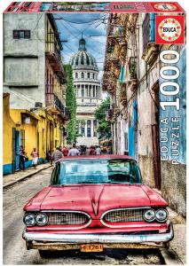 Настольная игра Винтажное авто в старой Гаване. Пазл (1000 деталей)