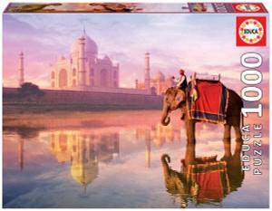 Настольная игра Слон у Тадж Махала. Пазл (1000 деталей)