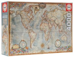 Настольная игра Карта мира. Пазл, 4000 элементов