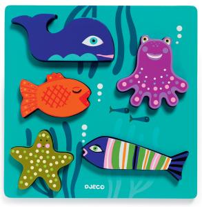Настольная игра Морские животные. Пазл для малышей Djeco