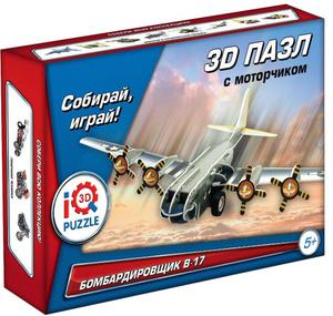 Настольная игра Бомбардировщик В-17. Пазл инерционный