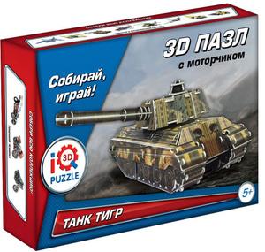 Настольная игра Танк King Tiger. Пазл инерционный