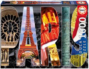 Настольная игра Париж, коллаж. Пазл (1000 деталей)