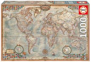 Настольная игра Политическая карта мира. Пазл (1000 элементов)