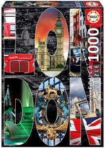 Настольная игра Лондон, коллаж. Пазл (1000 деталей)