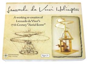 Настольная игра Леонардо Да Винчи. Воздушный винт. Деревянный конструктор