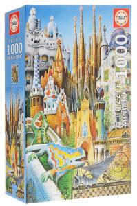 Настольная игра Коллаж. Пазл-миниатюра 1000 элементов