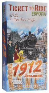 Настольная игра Ticket to Ride Европа 1912. Дополнение к настольной игре