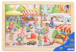 Настольная игра Рынок. Пазл для малышей