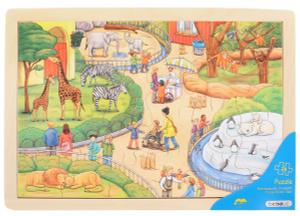 Настольная игра Зоопарк. Пазл для малышей