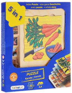 Настольная игра Морковка 5 в 1. Пазл для малышей