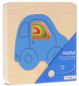 Настольная игра Машинки. Пазл для малышей, деревянный