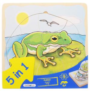 Настольная игра Лягушка 5 в 1. Пазл для малышей