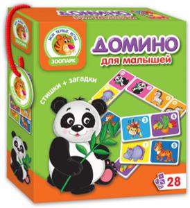 Настольная игра Зоопарк. Домино. Обучающая игра