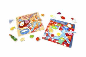 Настольная игра Котик и бутербродик. Развивающая магнитная игра