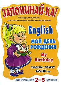 English. My Birthday / Мой день рождения. Для учащихся 2-5 классов