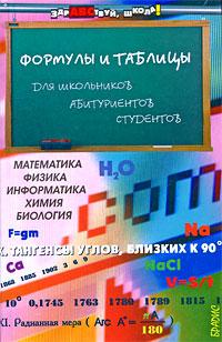 Формулы и таблицы для школьников, абитуриентов, студентов. Математика, физика, информатика, химия, биология