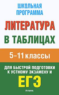Литература в таблицах. 5-11 классы ( 978-5-17-063069-1, 978-5-271-25885-5 )