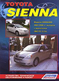Toyota Sienna. ������ 2WD & 4WD 2003-2006 ��. ������� � ���������� 3MZ-FE (3,3 �). ����������, ����������� ������������ � ������