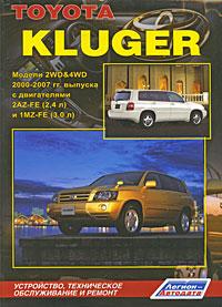 Toyota Kluger. ������ 2WD & 4WD 2000-2007 ��. ������� � ����������� 2AZ-FE (2,4 �) � 1MZ-FE (3,0 �). ����������, ����������� ������������ � ������