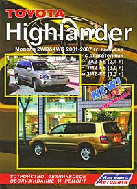 Toyota Highlander. Модели 2WD&4WD 2001-2007 гг. выпуска. Устройство, техническое обслуживание и ремонт
