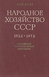 Народное хозяйство СССР. 1922-1972 гг. Юбилейный статистический ежегодник