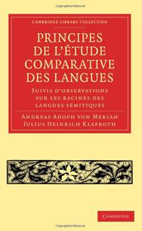 Principes de l'A�tude comparative des langues