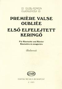 Liszt: Premiere valse oublire fur klarinette und Klavier