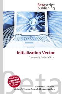 Initialization Vector. Lambert M. Surhone