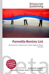 Pannella-Bonino List. Lambert M. Surhone