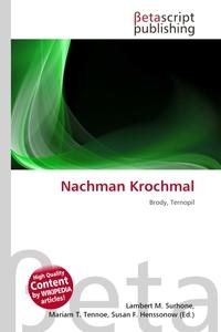 Nachman Krochmal. Lambert M. Surhone