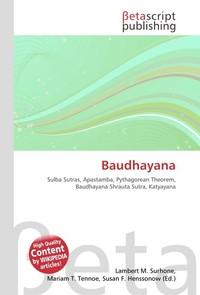 Baudhayana. Lambert M. Surhone