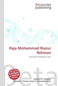 Raja Mohammad Riazur Rehman. Lambert M. Surhone