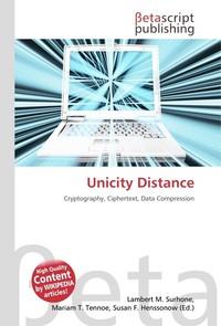 Unicity Distance. Lambert M. Surhone